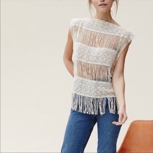 Brand NEW Crochet Boho Fringed Coachella Top